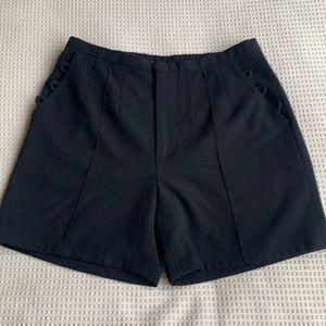 High waisted black shorts size 0
